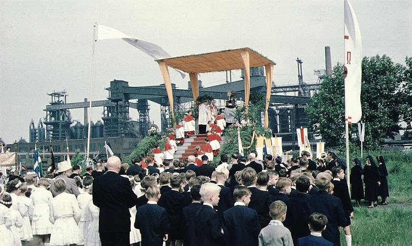 Gelsenkirchen Fronleichnam KAB Altar Kokerei Alma